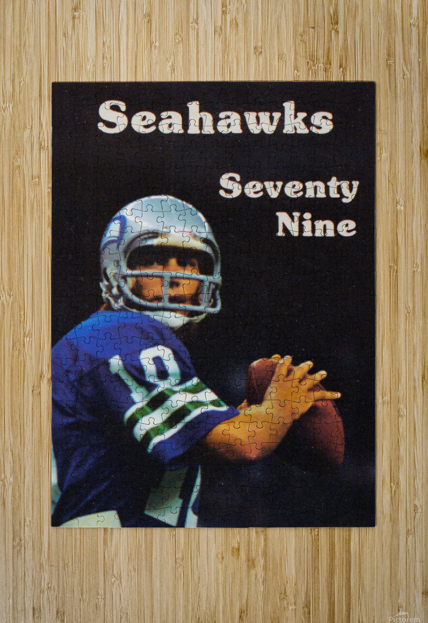 1979 Seattle Seahawks Jim Zorn Poster  HD Metal print with Floating Frame on Back