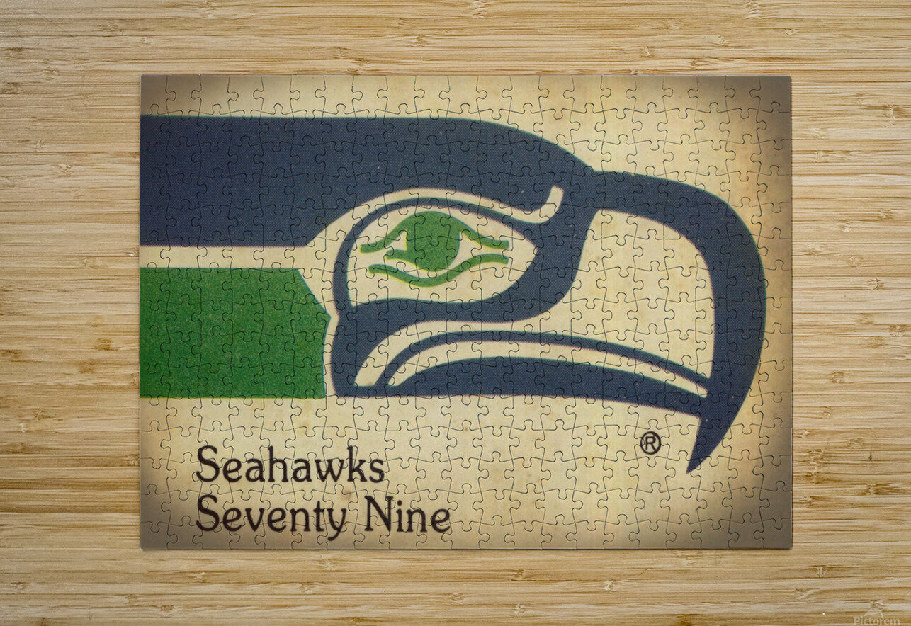 1979 Seattle Seahawks Art  HD Metal print with Floating Frame on Back