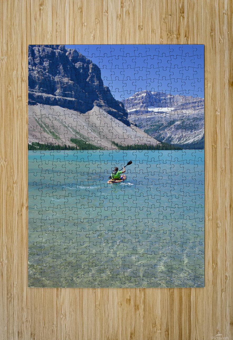 Kayaking  HD Metal print with Floating Frame on Back