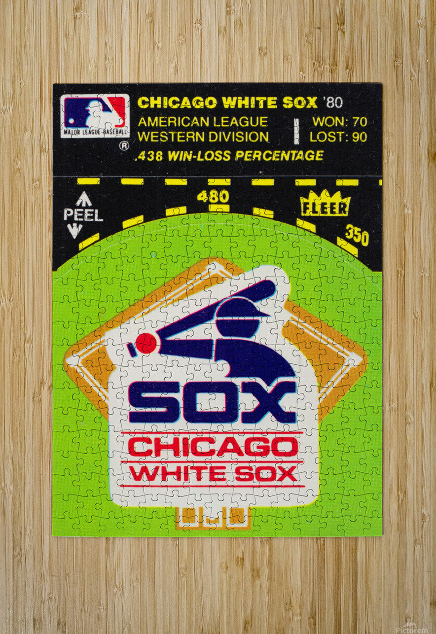 1980 Chicago White Sox Fleer Decal Wall Art  HD Metal print with Floating Frame on Back