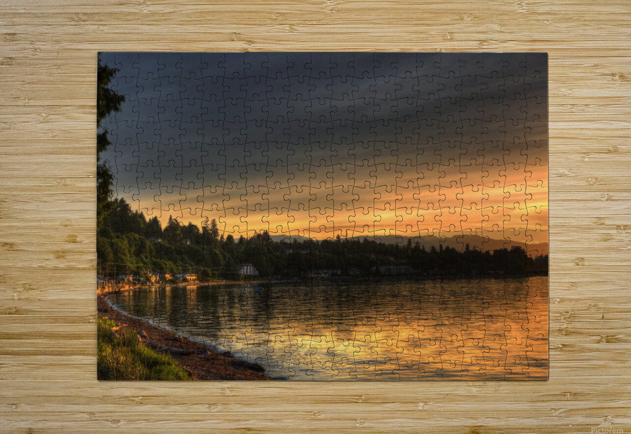 Before Sunset by Randy Hall  HD Metal print with Floating Frame on Back