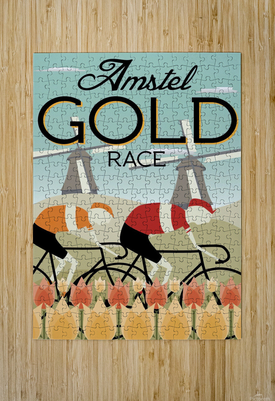Amstel Gold Race  HD Metal print with Floating Frame on Back