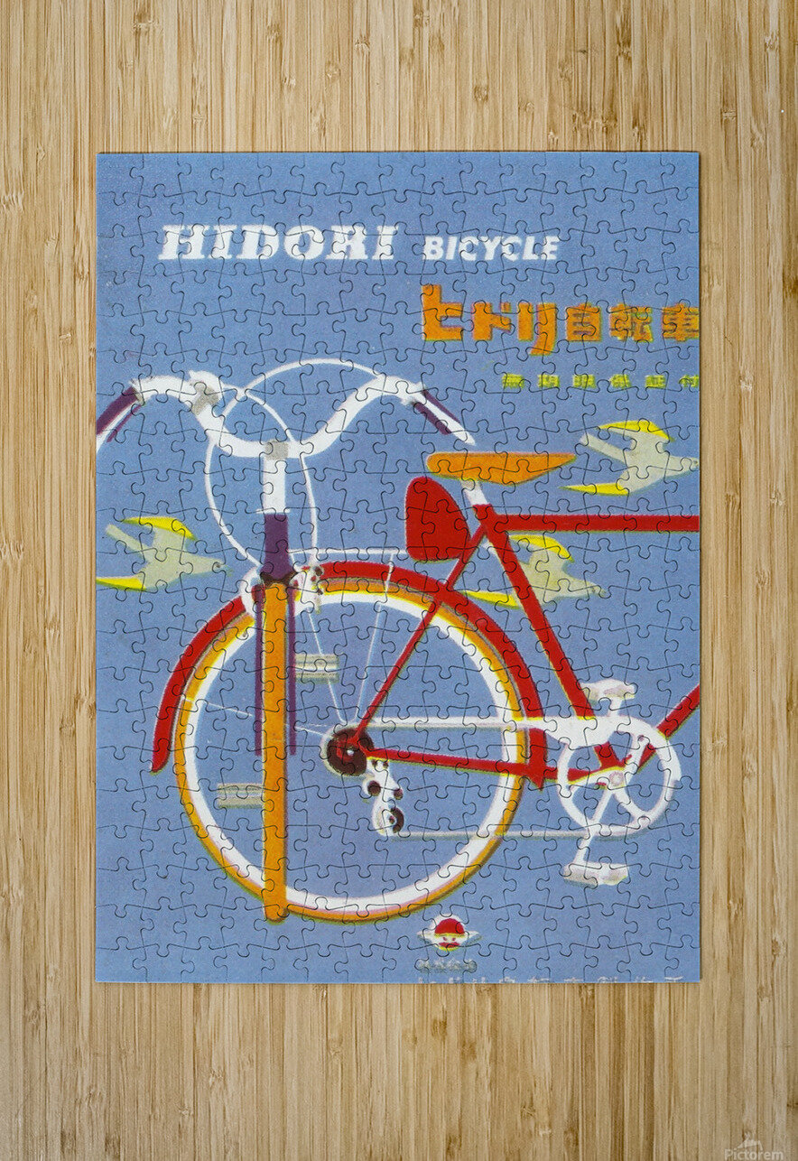 Bicycle Hidori  HD Metal print with Floating Frame on Back