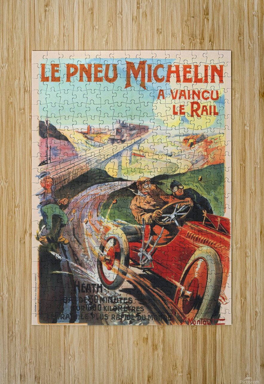 Le Pneu Michelin a vaincu le rail  HD Metal print with Floating Frame on Back