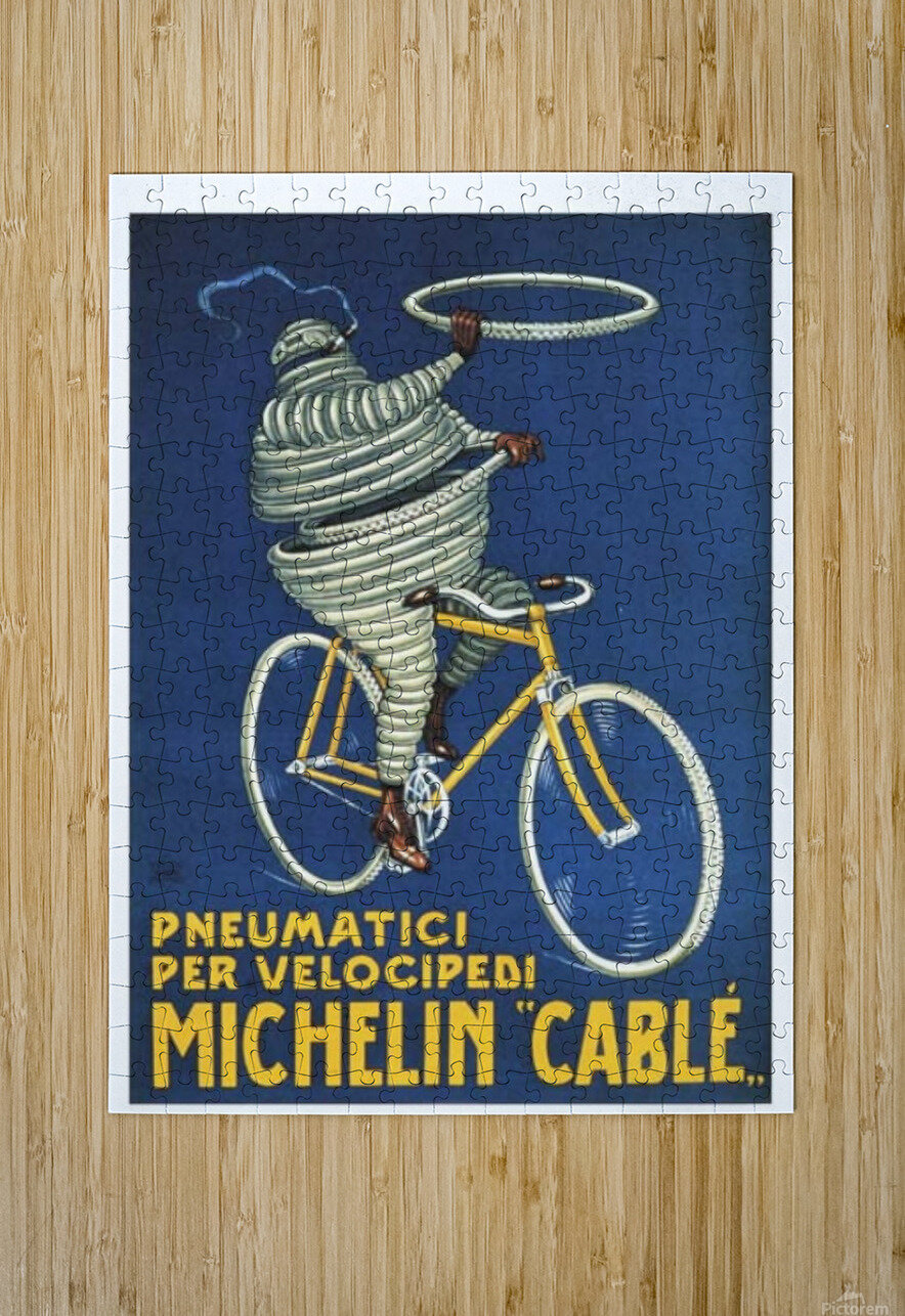 Pneumatici per Velocipedi  HD Metal print with Floating Frame on Back