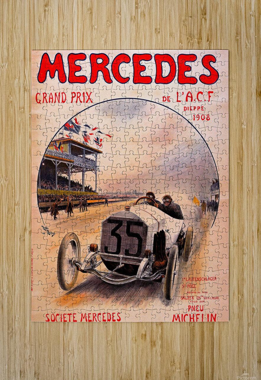 Mercedes Grand Prix  HD Metal print with Floating Frame on Back