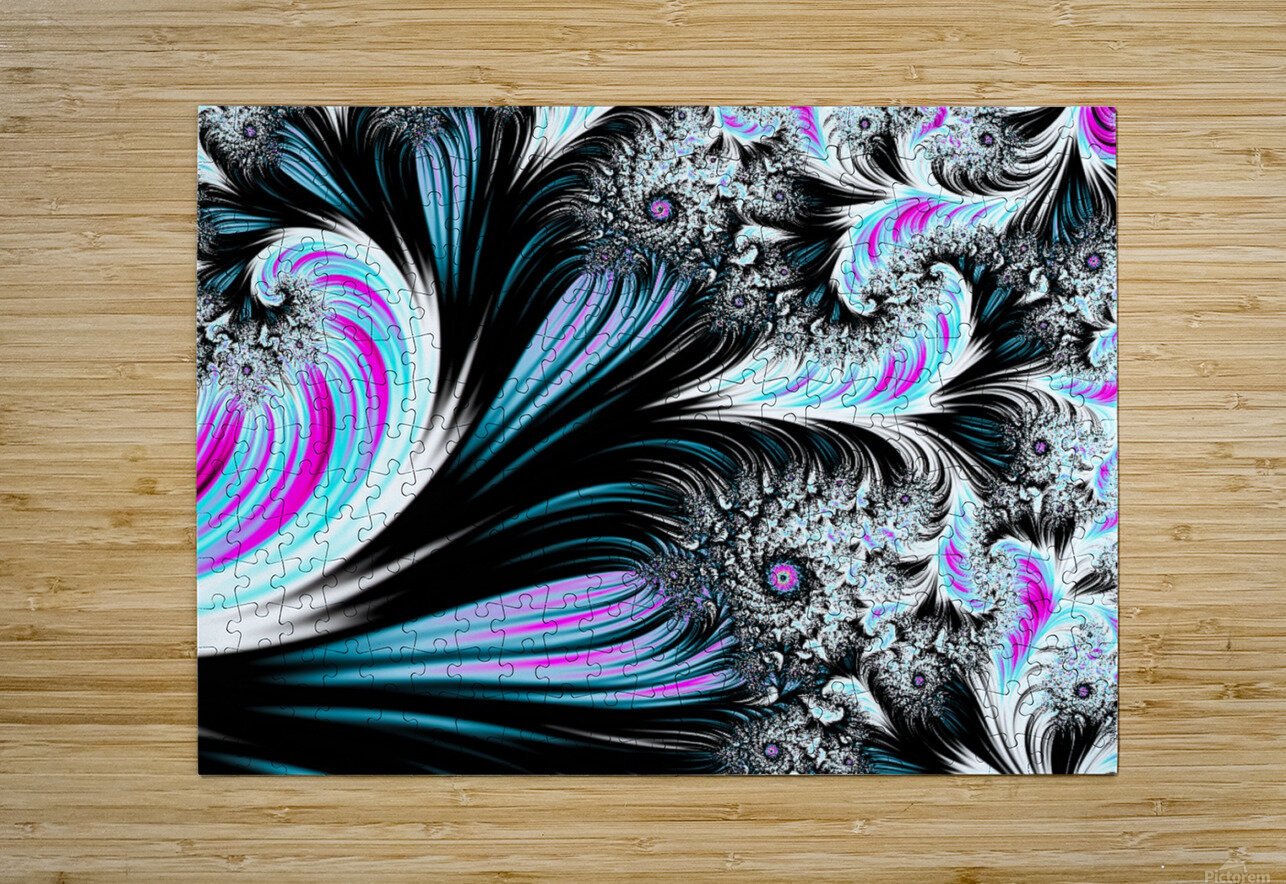 Abstract background waves.  HD Metal print with Floating Frame on Back