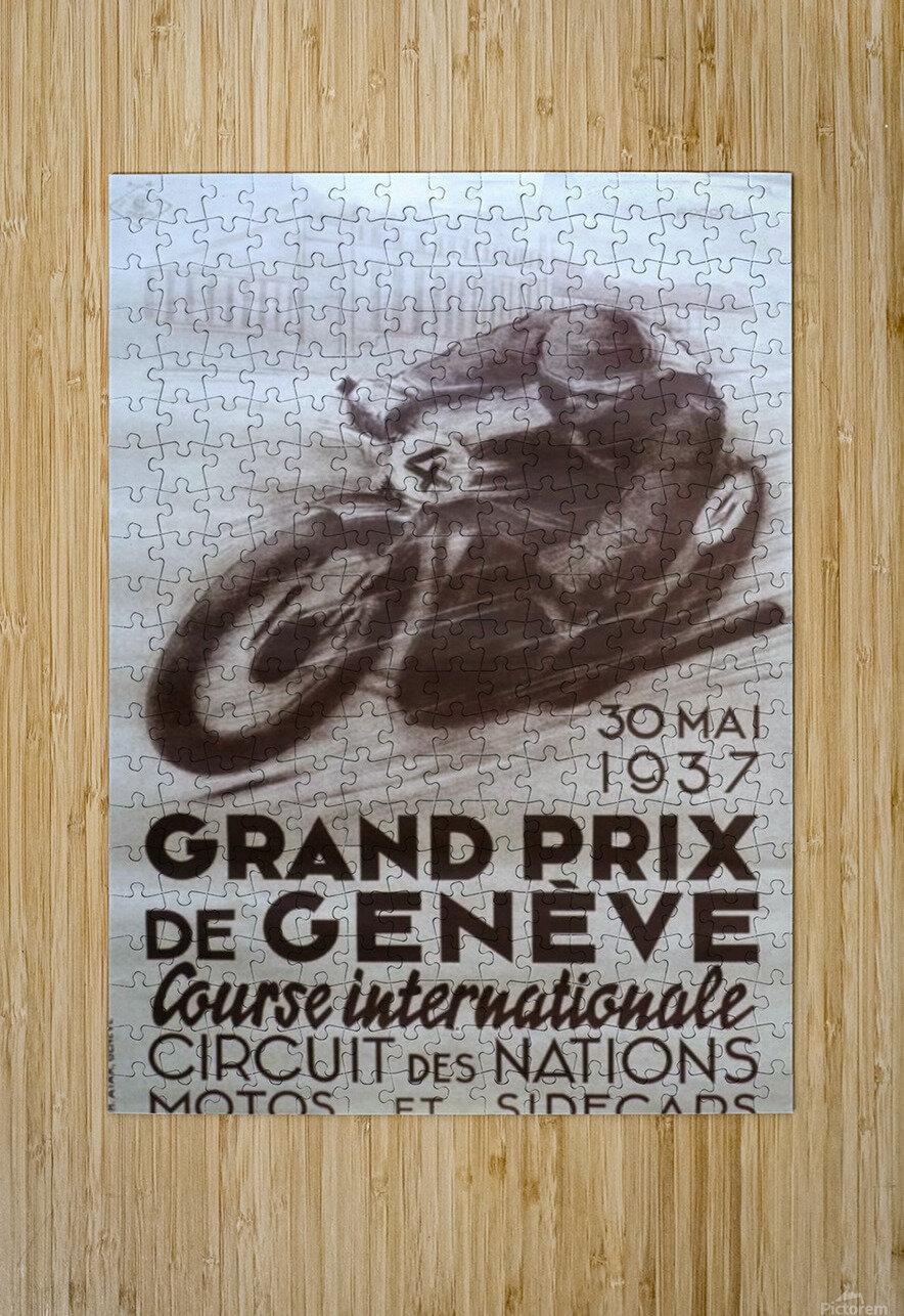 Grand prix de Geneve  HD Metal print with Floating Frame on Back
