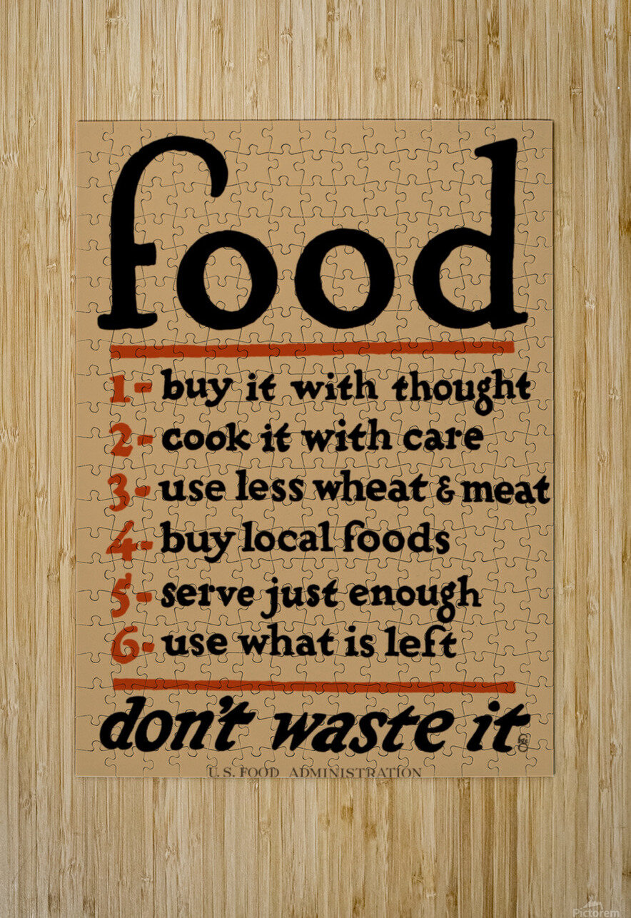 Food Poster  HD Metal print with Floating Frame on Back