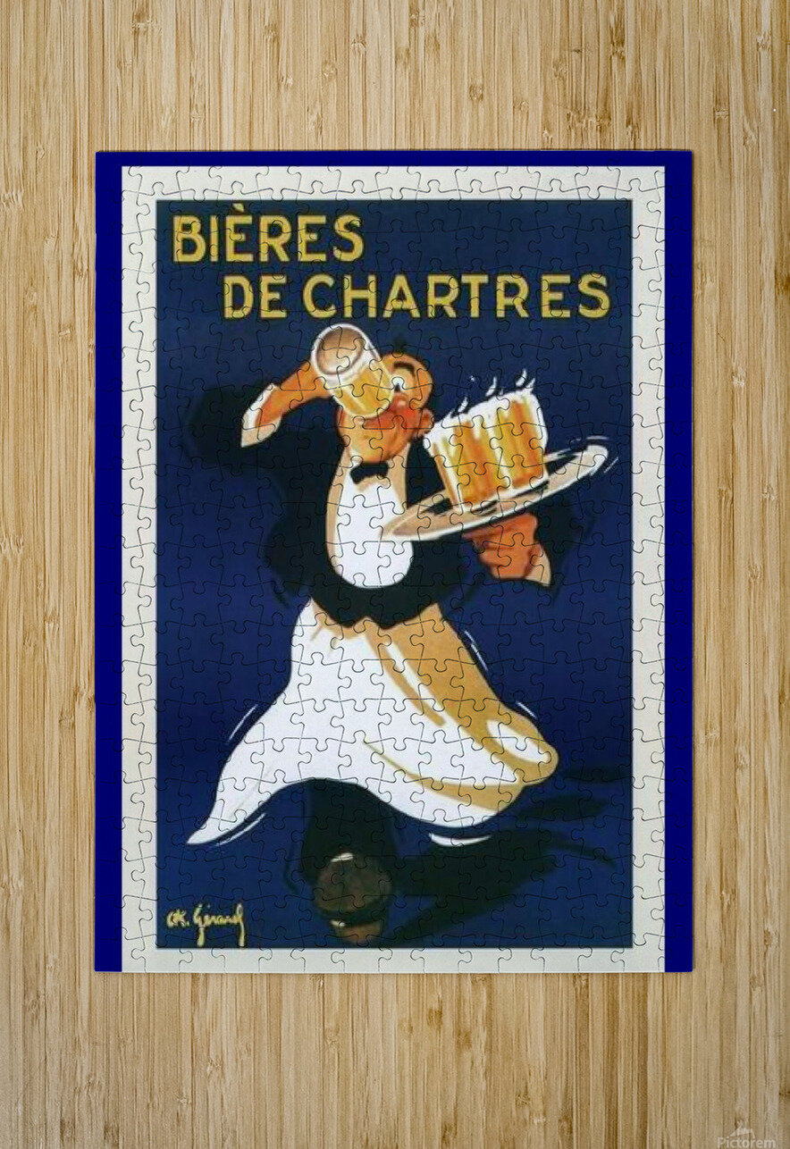Bieres de Chartes  HD Metal print with Floating Frame on Back