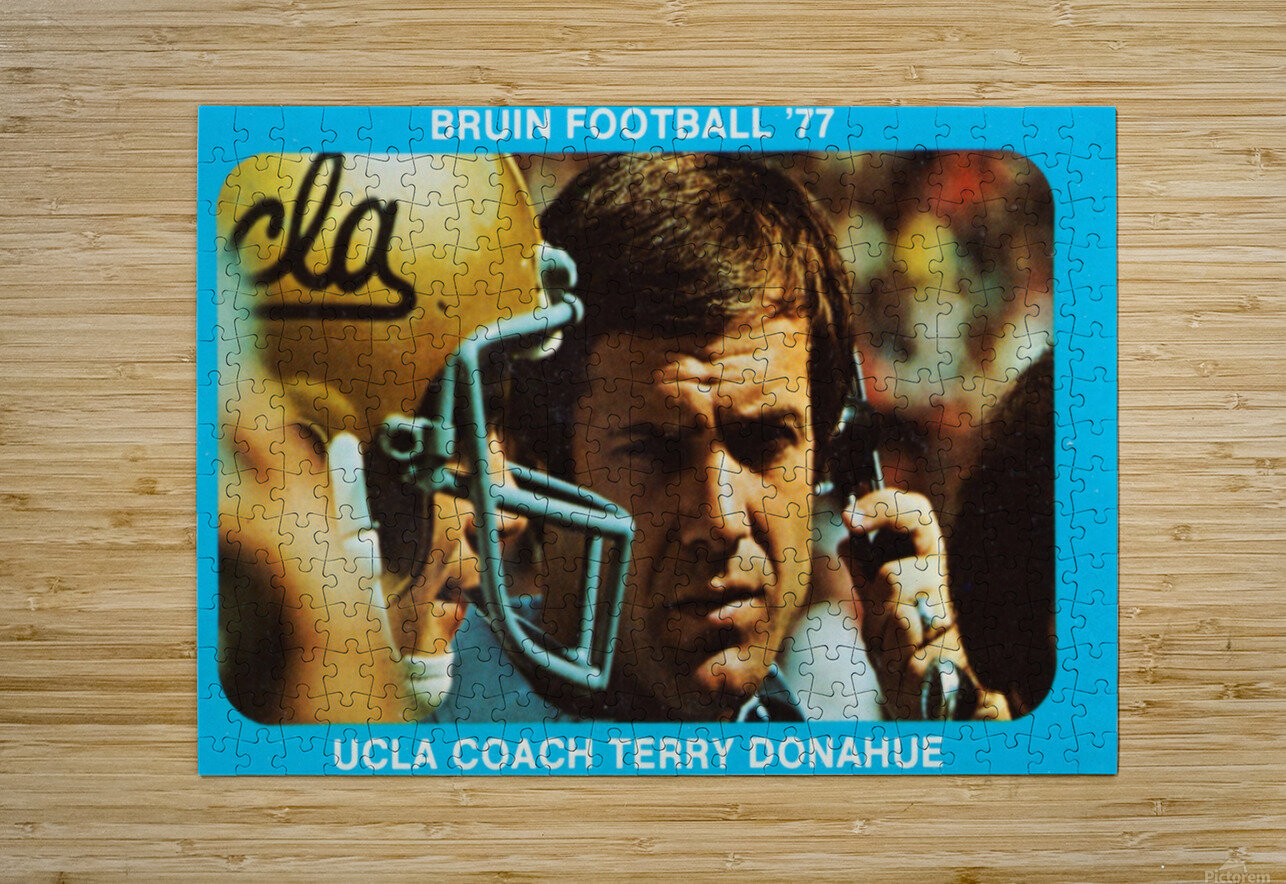 1977 UCLA Bruins Terry Donahue Football Poster  HD Metal print with Floating Frame on Back