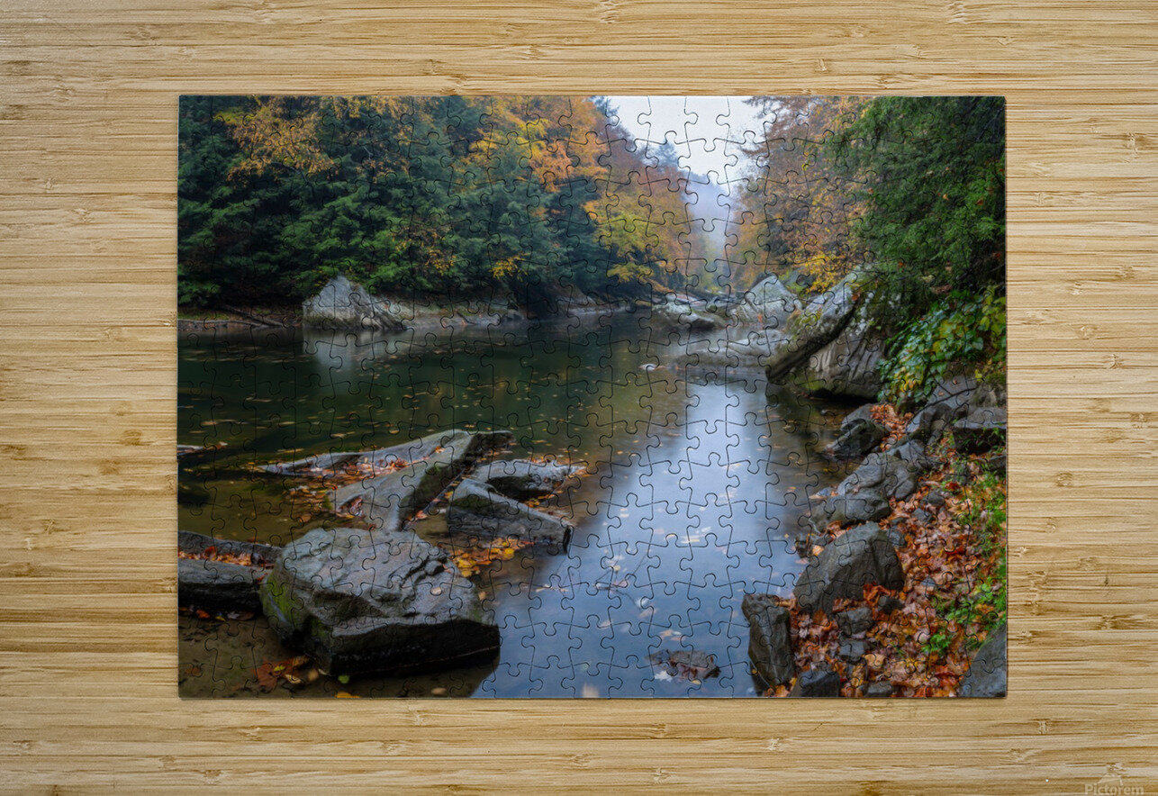 Slippery Rock Creek apmi 1924  HD Metal print with Floating Frame on Back