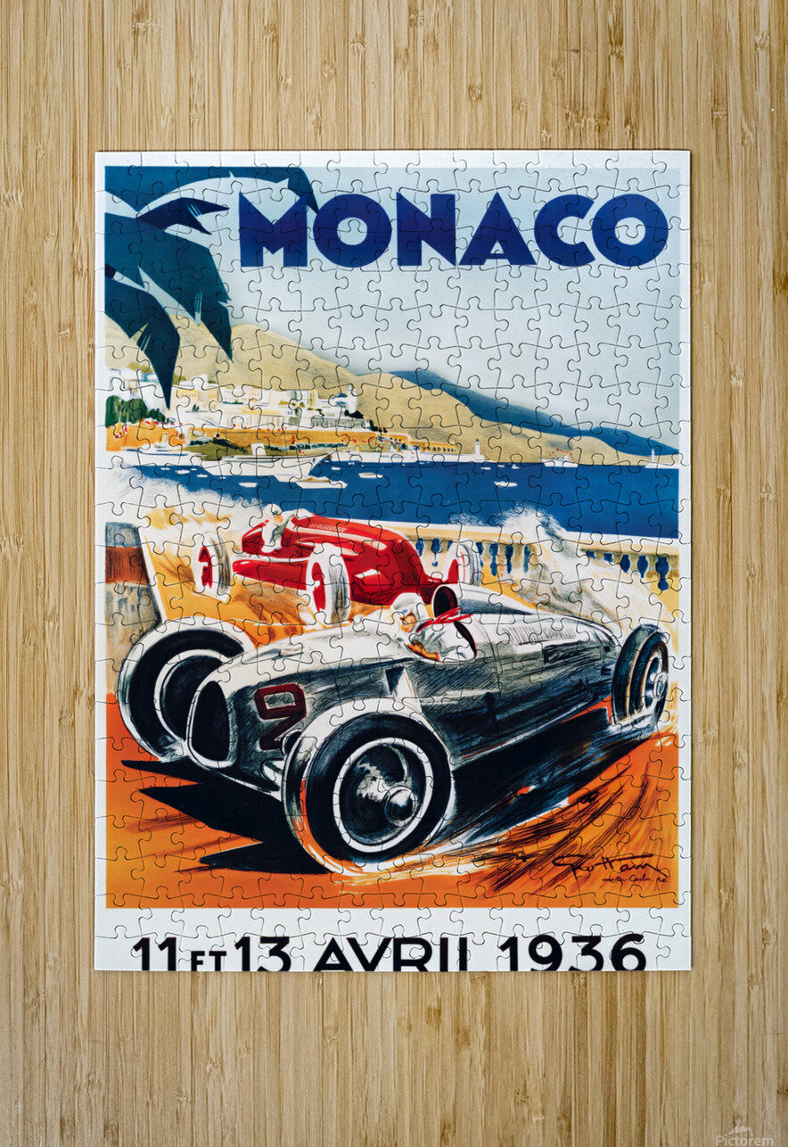 Monaco April 1936  HD Metal print with Floating Frame on Back