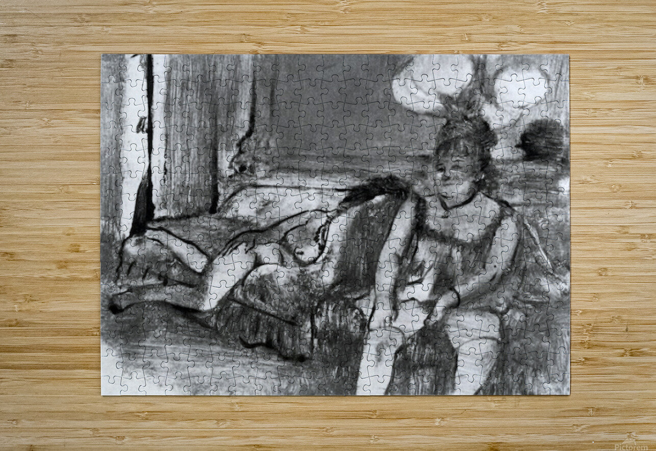 Taking a rest by Degas  HD Metal print with Floating Frame on Back