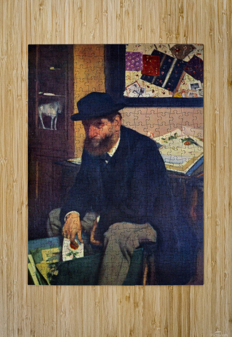 The Amateur by Degas  HD Metal print with Floating Frame on Back