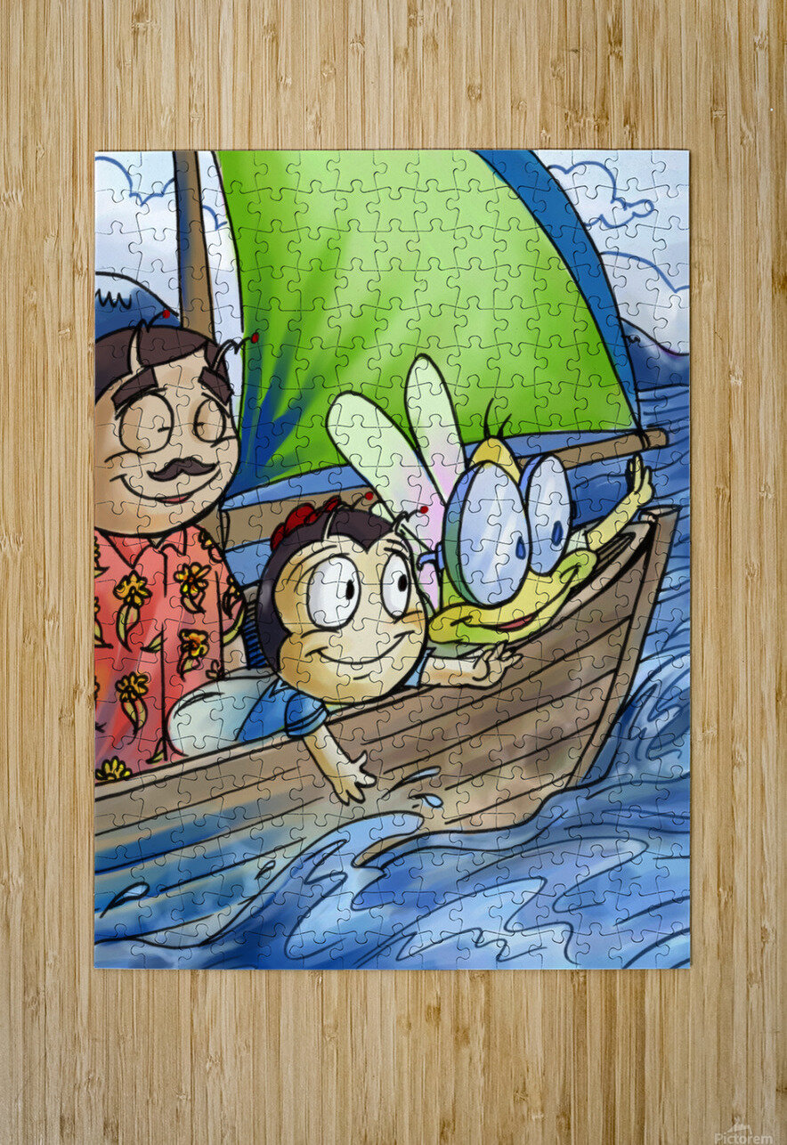 Sail Away with Us  HD Metal print with Floating Frame on Back