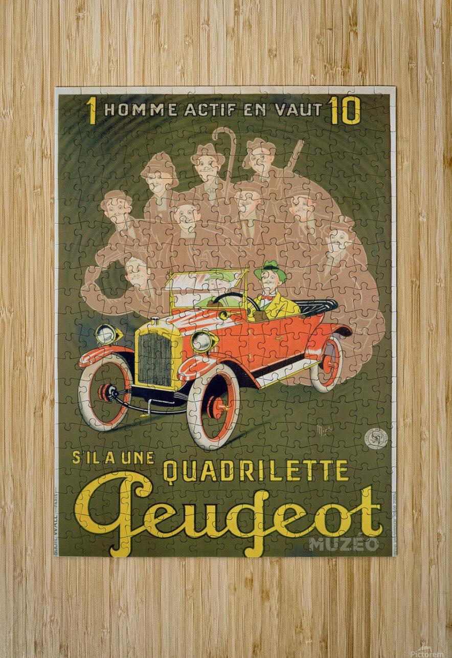 Quadrilette Peugeot  HD Metal print with Floating Frame on Back