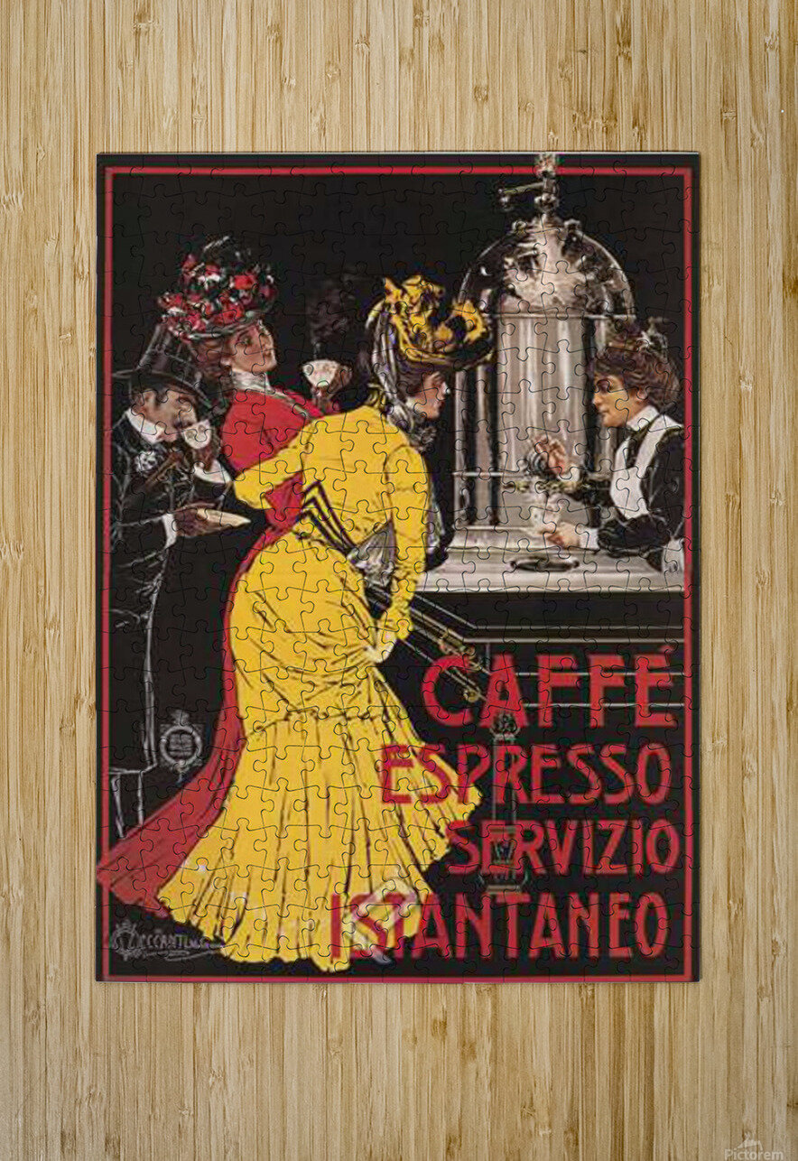 Caffe Espresso  HD Metal print with Floating Frame on Back