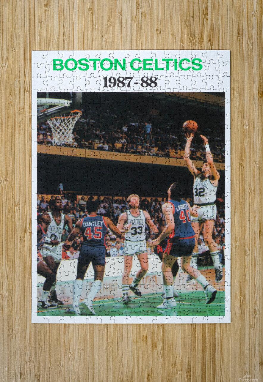 1987 Boston Celtics Larry Bird Poster  HD Metal print with Floating Frame on Back