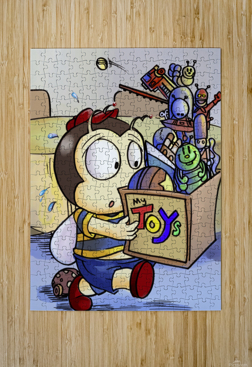 My Toys - Buster Bee  HD Metal print with Floating Frame on Back