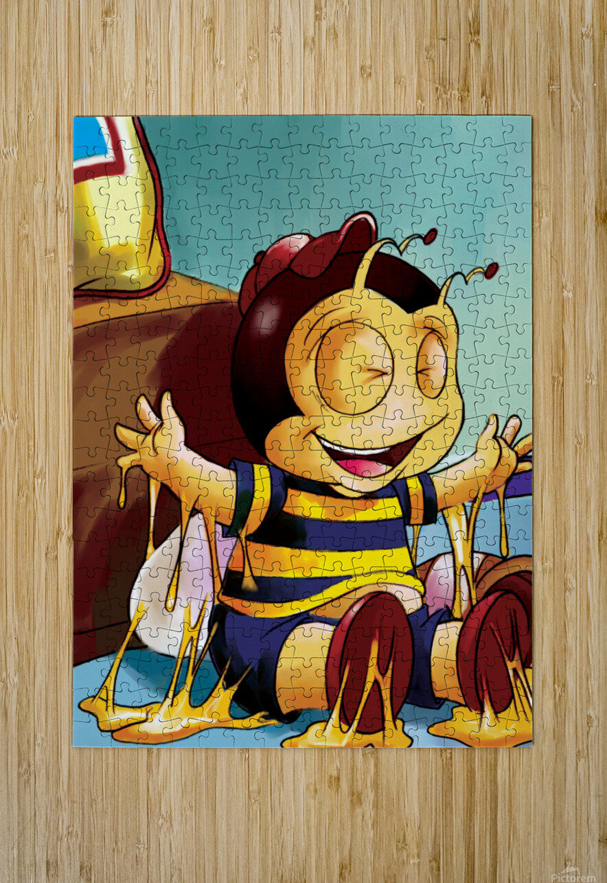 Sticky Mess - Too Much Honey Buster Bee  HD Metal print with Floating Frame on Back