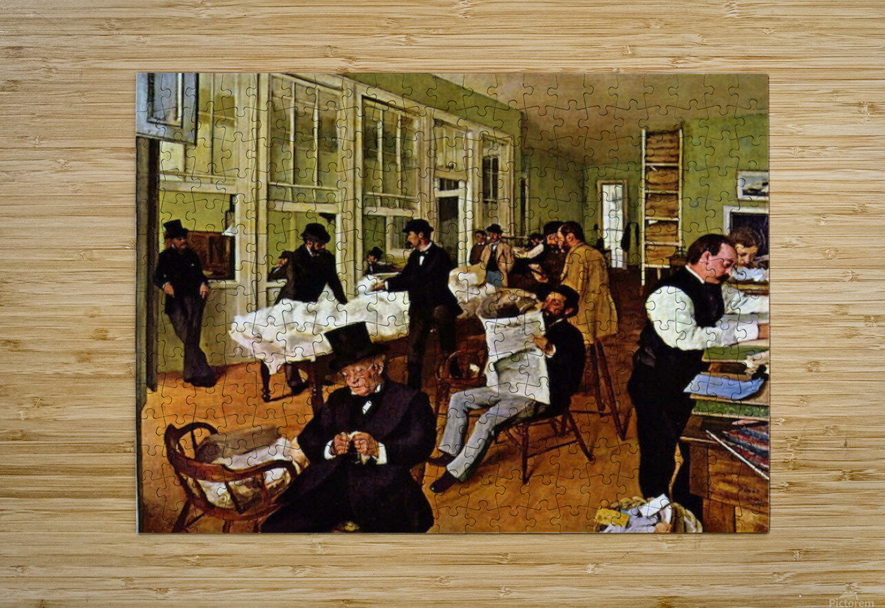 The cotton exchange by Degas  HD Metal print with Floating Frame on Back