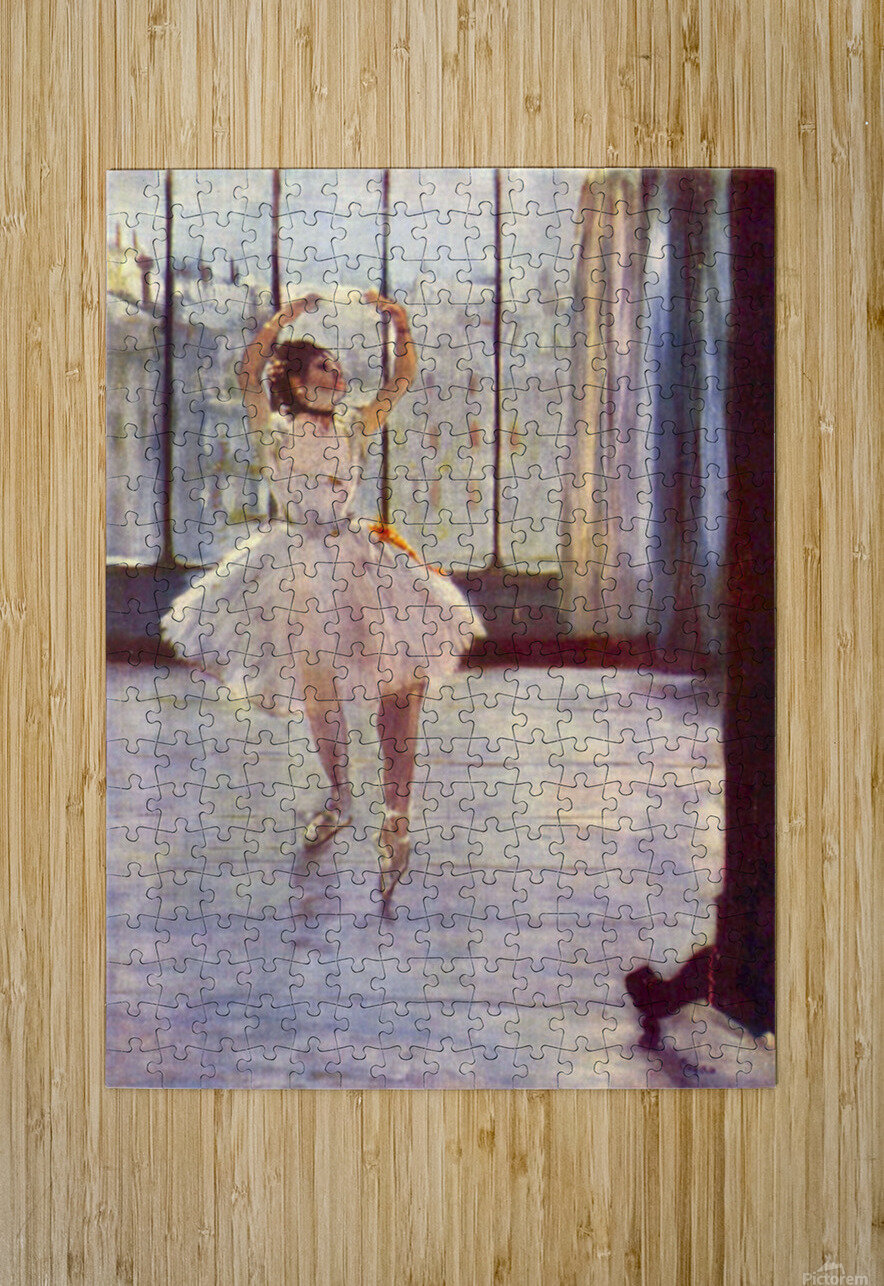 The dancer at the photographer by Degas  HD Metal print with Floating Frame on Back