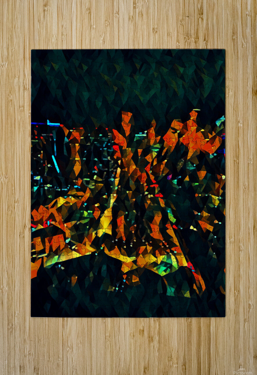 seattle at night  HD Metal print with Floating Frame on Back
