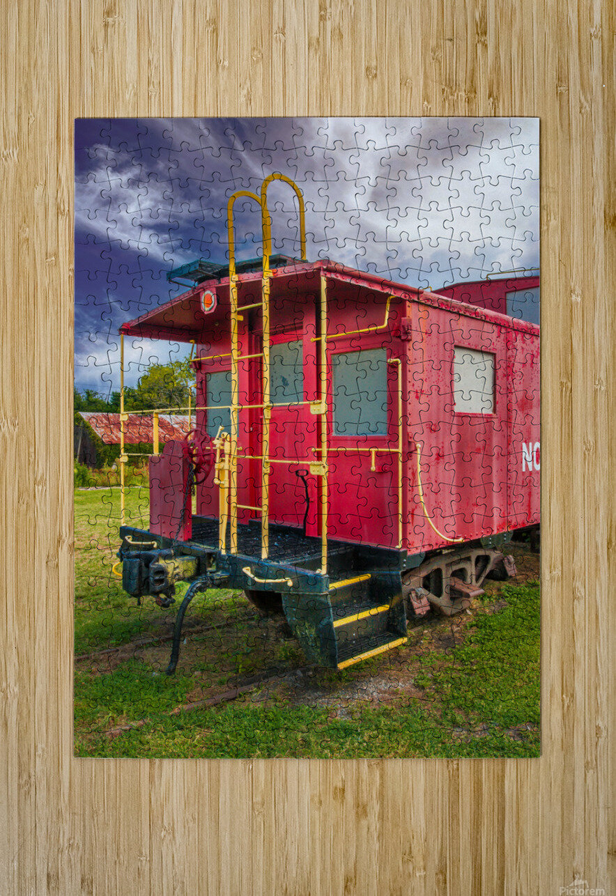 Caboose  HD Metal print with Floating Frame on Back