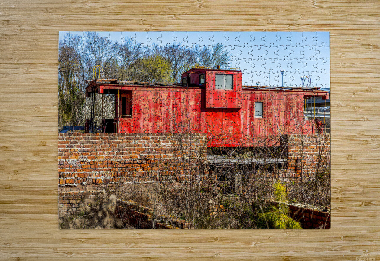 Rail Car in Petersburg VA  HD Metal print with Floating Frame on Back