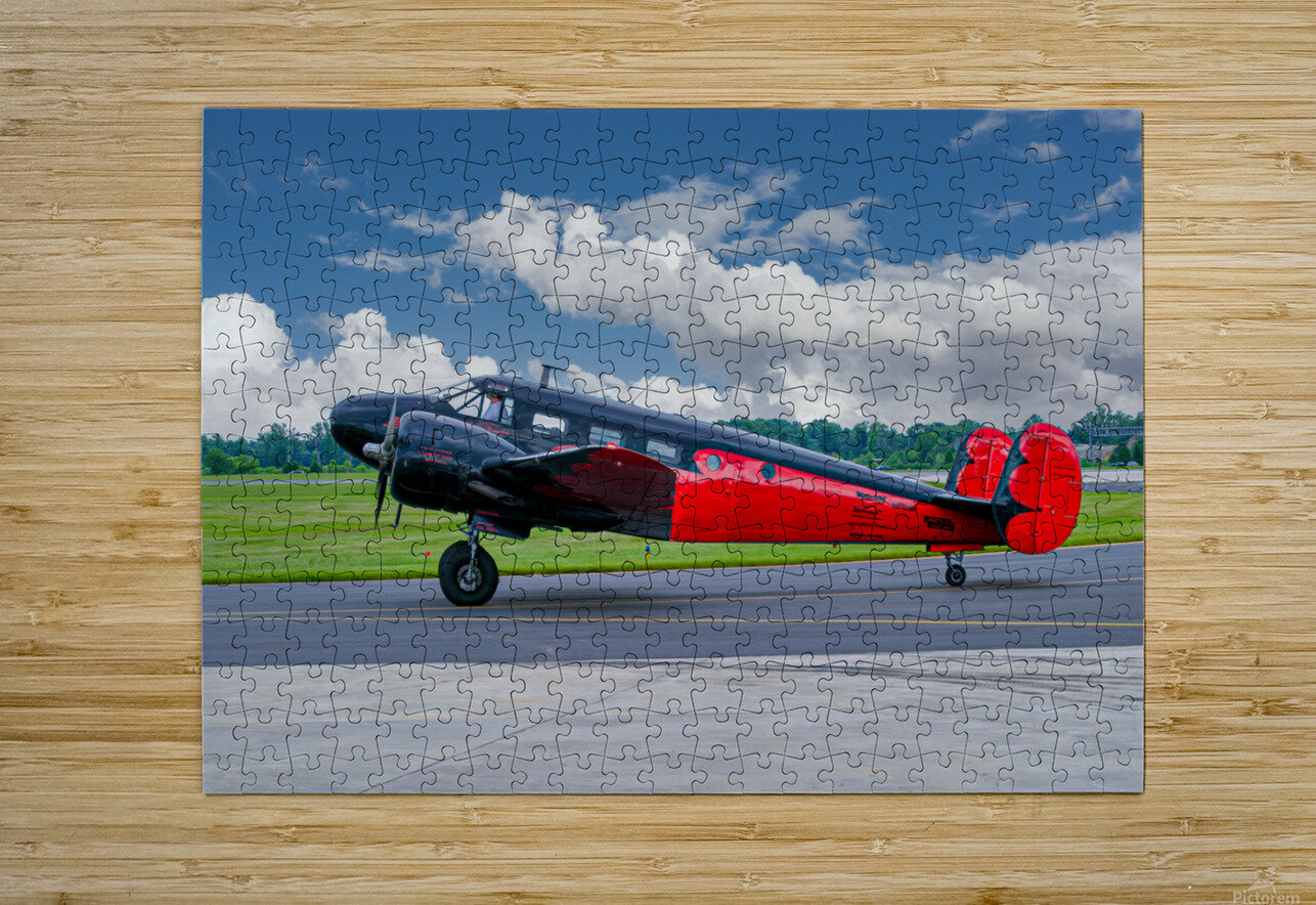 Beech B18  HD Metal print with Floating Frame on Back
