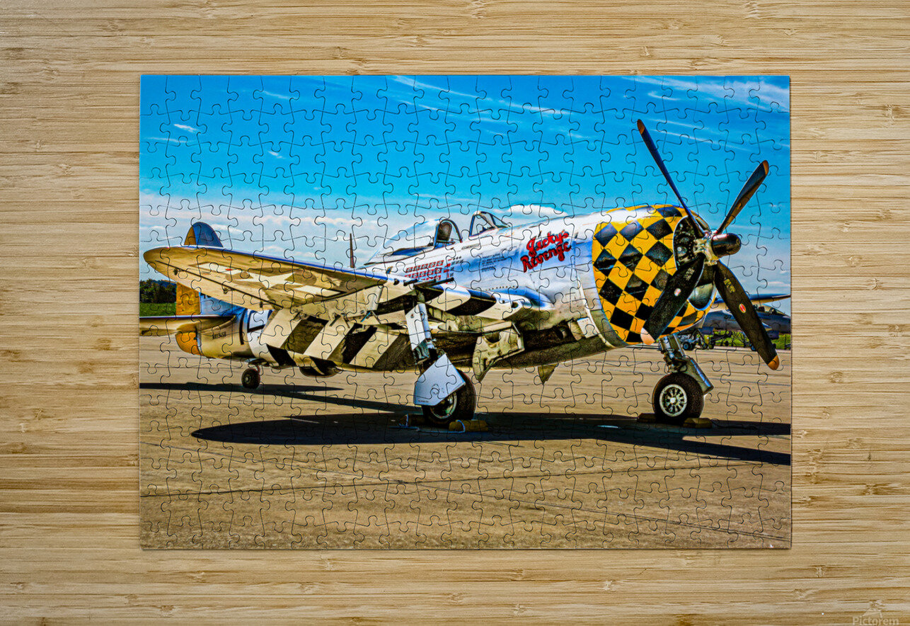 P 47D Thunderbolt  HD Metal print with Floating Frame on Back