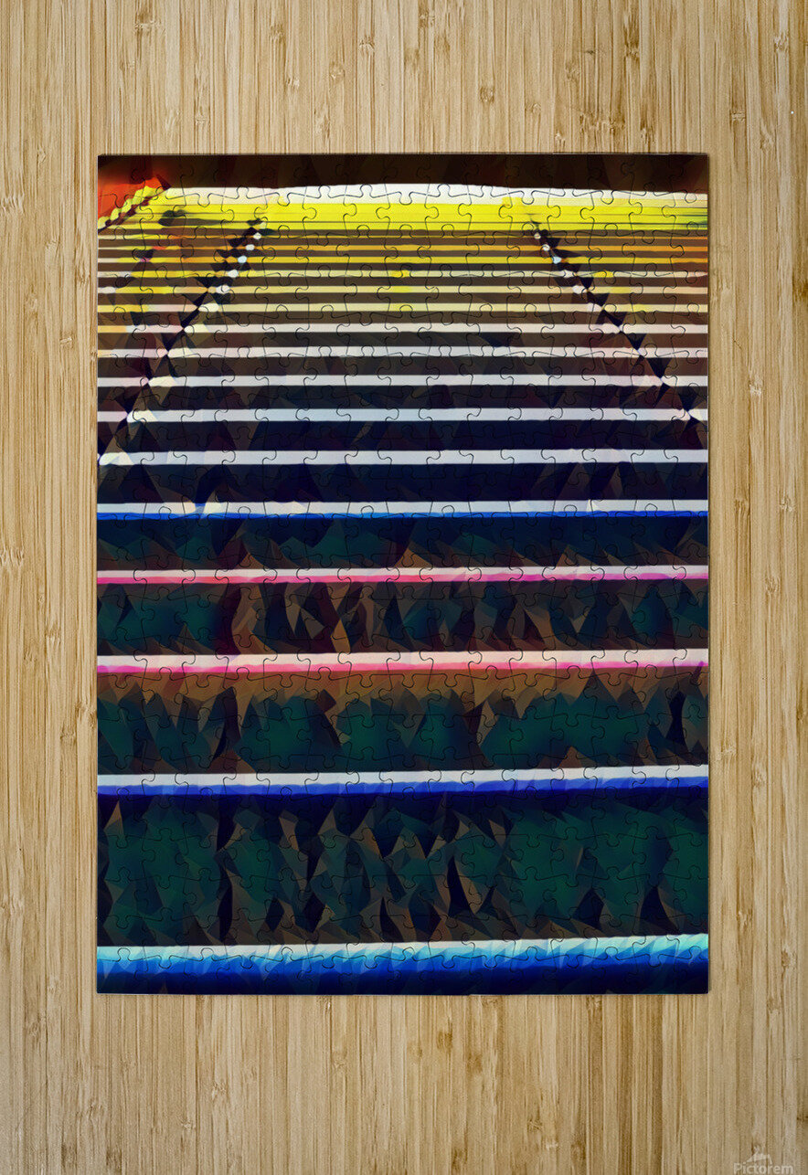 Window Blinds  HD Metal print with Floating Frame on Back