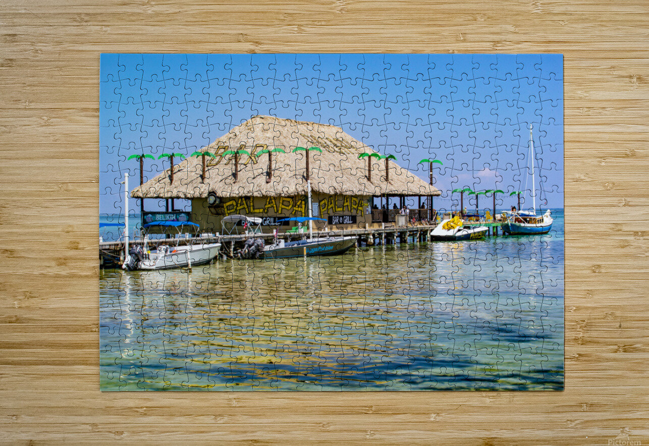 Ambergris Caye 3  HD Metal print with Floating Frame on Back