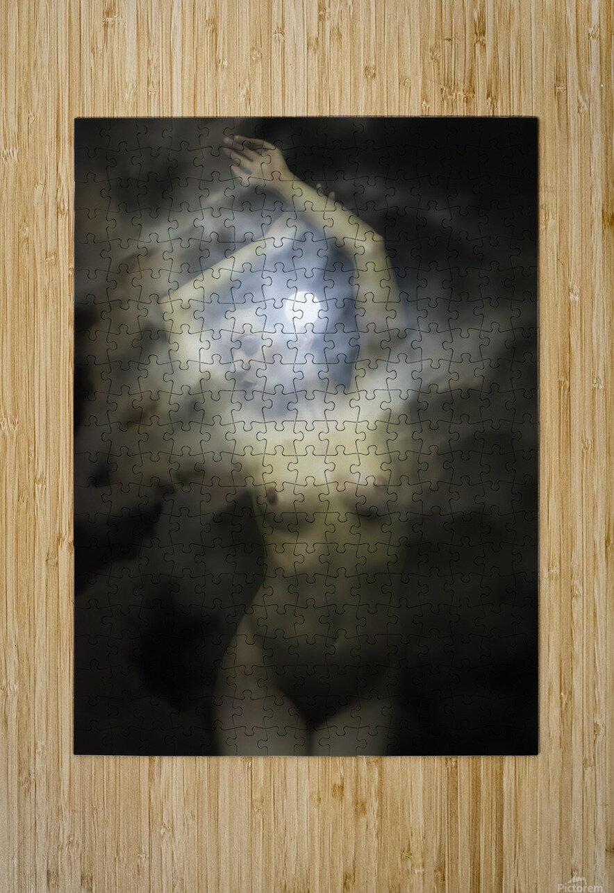 LUNA MOON GODDESS  HD Metal print with Floating Frame on Back