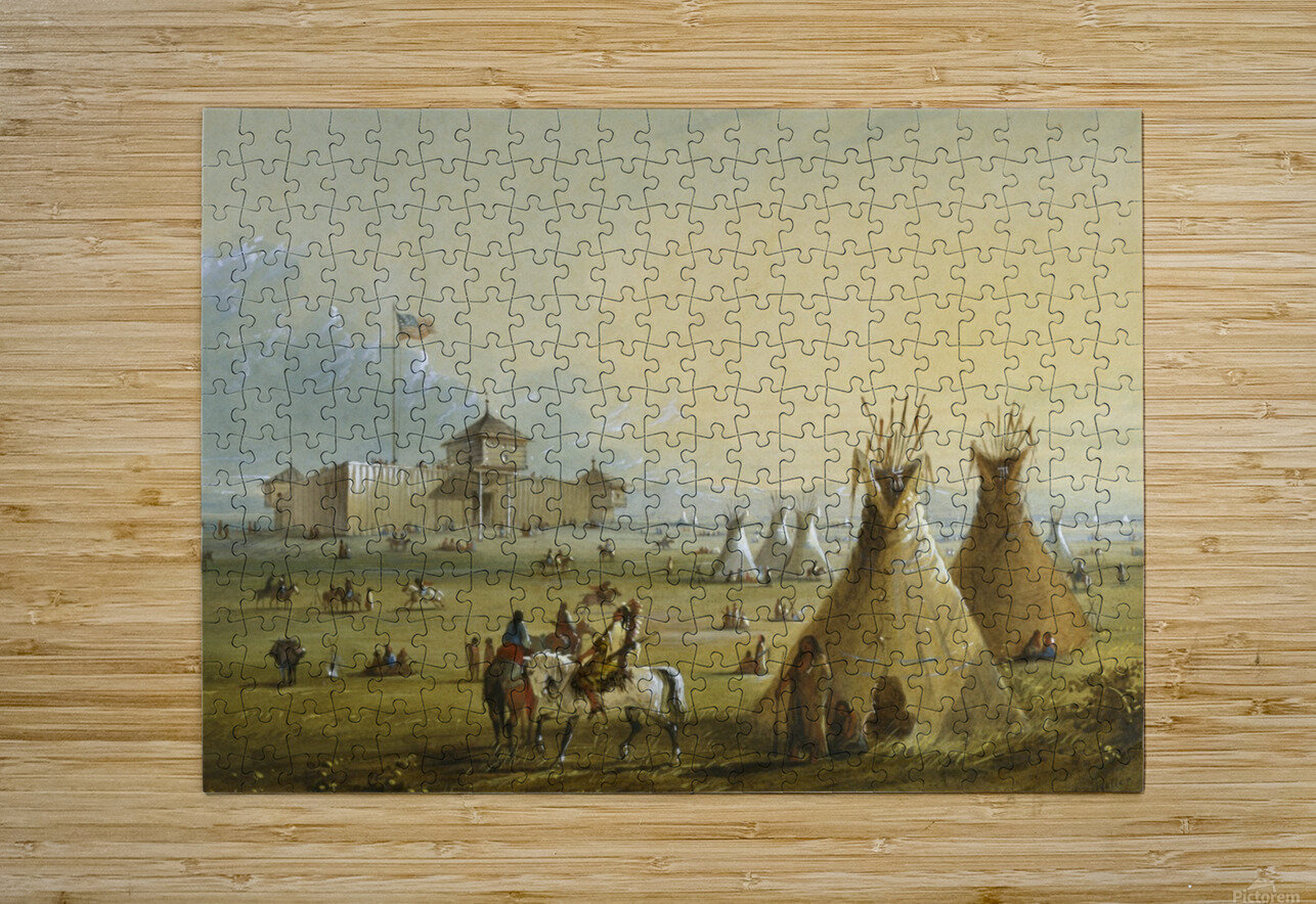 Fort Laramie  HD Metal print with Floating Frame on Back