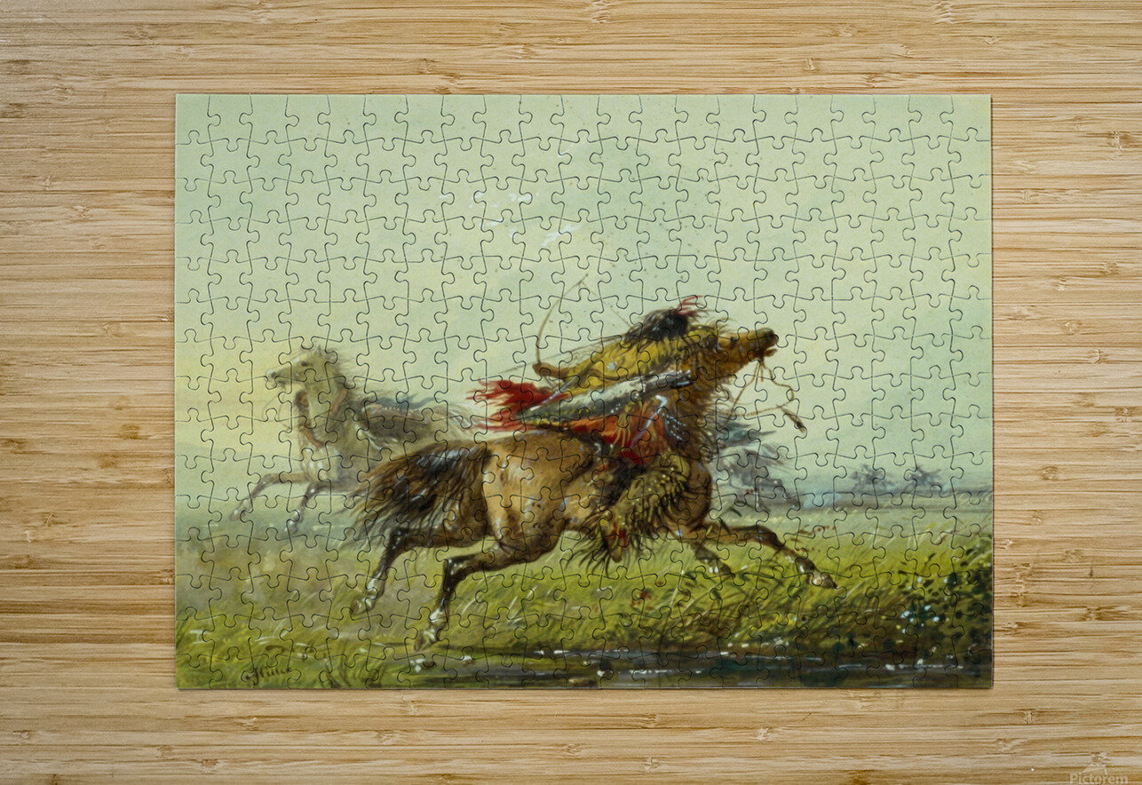 Dodging an Arrow  HD Metal print with Floating Frame on Back