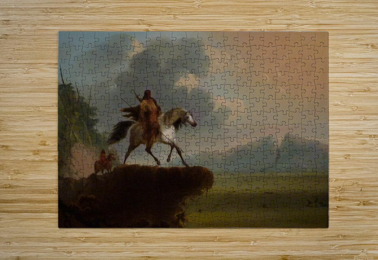 Wild West  HD Metal print with Floating Frame on Back