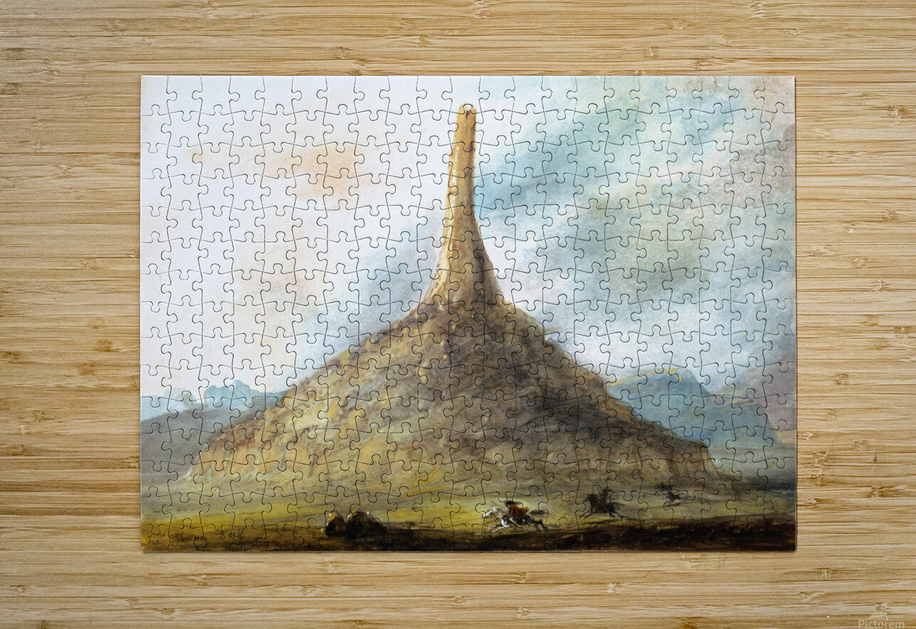 Chimney Rock near Scotts Bluff  HD Metal print with Floating Frame on Back