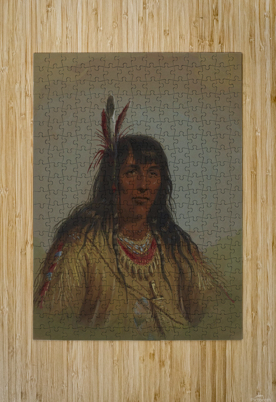 Bannock Indian  HD Metal print with Floating Frame on Back
