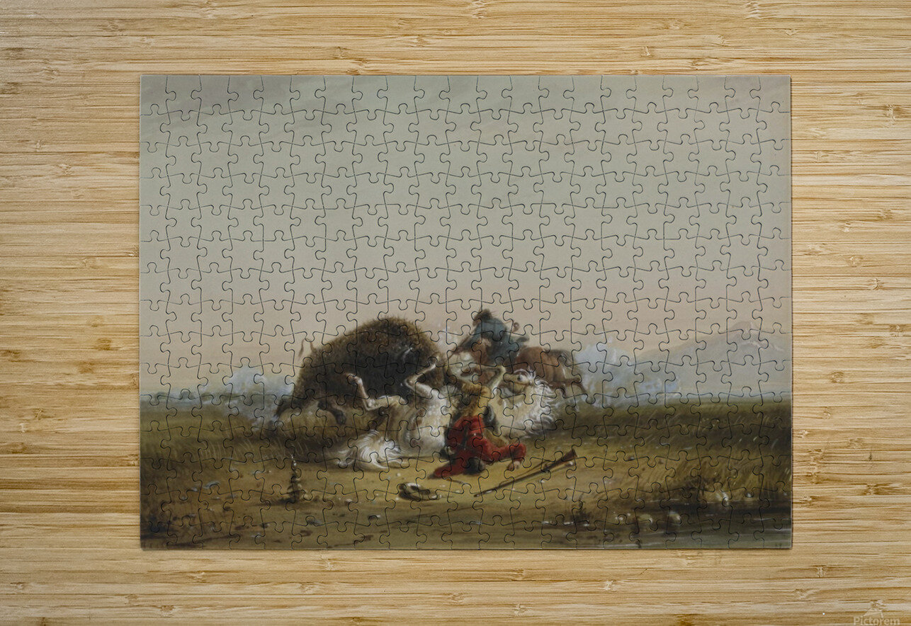 Pierre and the Buffalo  HD Metal print with Floating Frame on Back