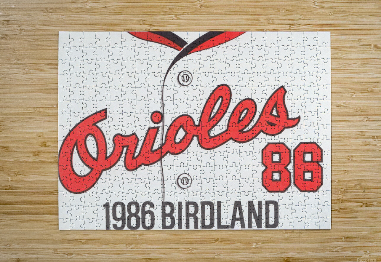1986 Baltimore Orioles Metal Sign  HD Metal print with Floating Frame on Back