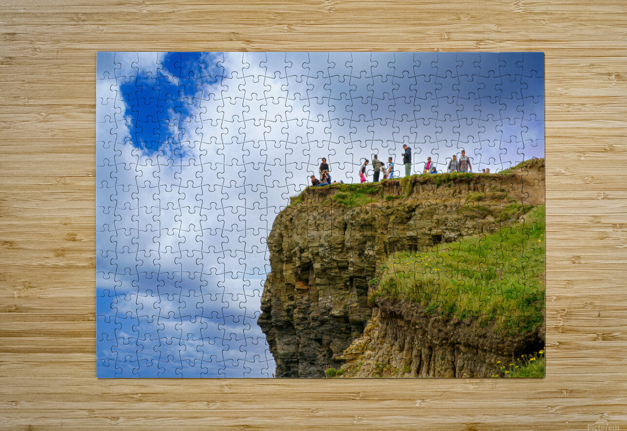 Cliffs Of Moher 3  HD Metal print with Floating Frame on Back