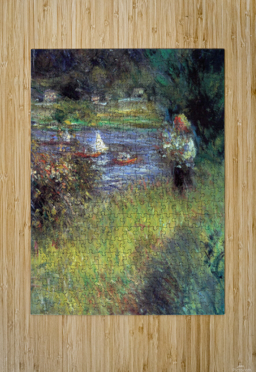 The Seine at Chatou (Detail) by Renoir  HD Metal print with Floating Frame on Back