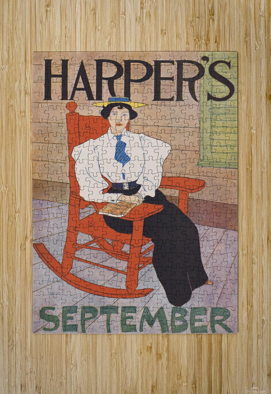 Harpers September  HD Metal print with Floating Frame on Back