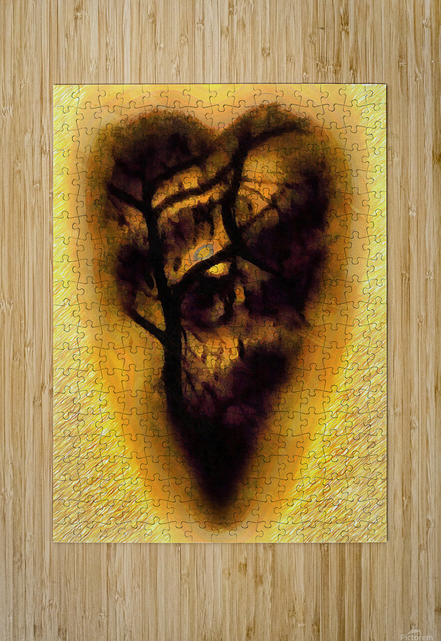 The Moon In My Heart 6  HD Metal print with Floating Frame on Back