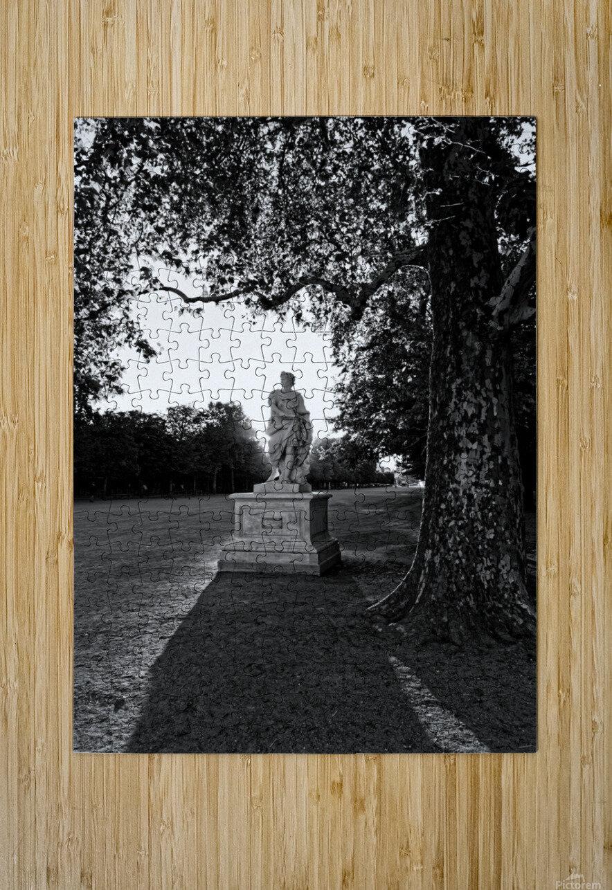 Tuilerie statue  Impression métal HD avec cadre flottant sur le dos