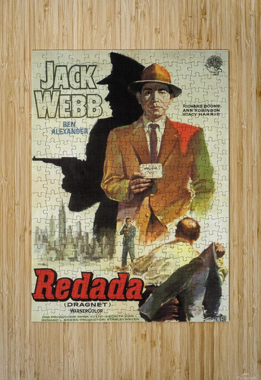 Film Noir Poster - Dragnet  HD Metal print with Floating Frame on Back
