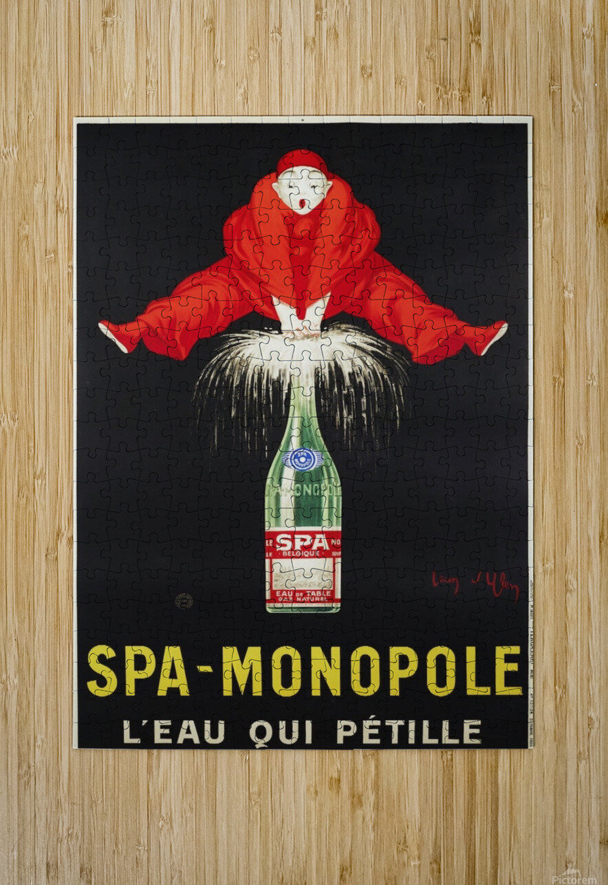 Spa-Monopole - Leau qui petille  HD Metal print with Floating Frame on Back