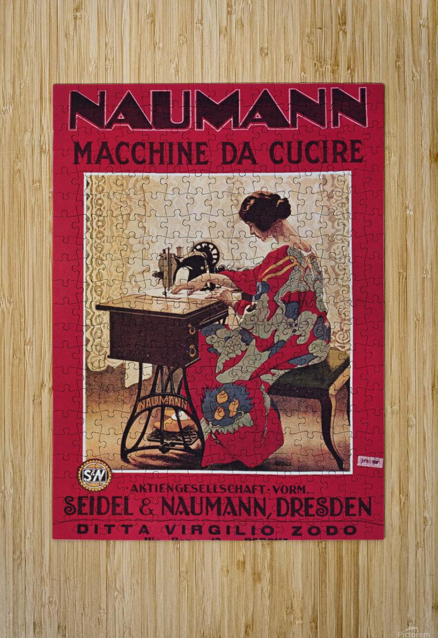 Naumann Sewing Machine  HD Metal print with Floating Frame on Back